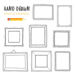 Hand-drawn illustrations of frames.