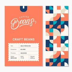 Obraz Coffee roasted beans packaging design - fototapety do salonu