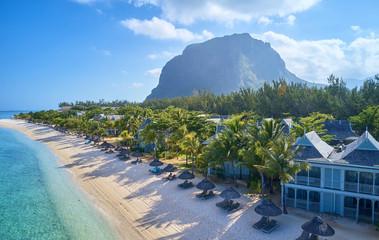 Mauritius island drone photo