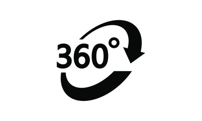 rotate 360 degrees icon