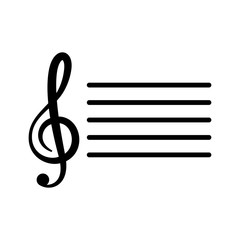 music note icon vector design template