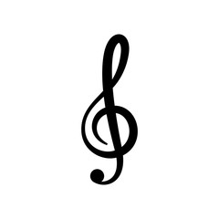 music note icon vector design template