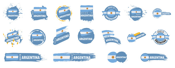 Argentina flag, vector illustration on a white background Fotomurales