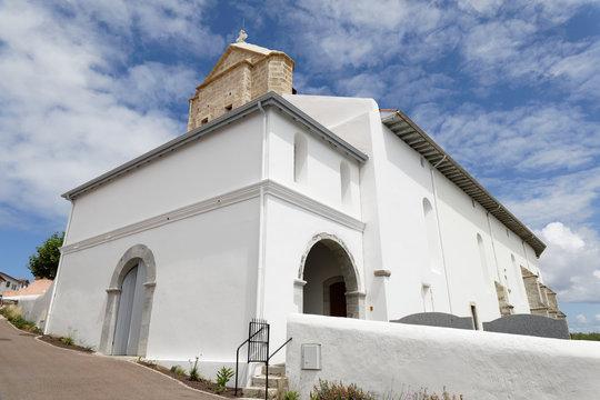 Bidart, Basque Country, France - Downtown. Notre-Dame de l'Assomption church