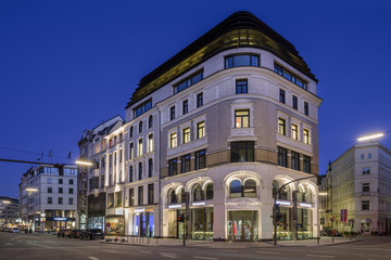 City Hamburg Grosse Johannisstrasse entzerrt