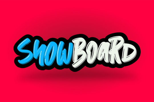 Snowboard hand drawn modern brush lettering. Vector illustration logo text for business, print and advertising.