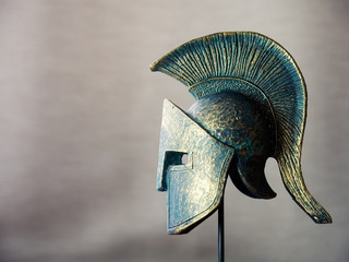 Decorative model of ancient Spartan helmet