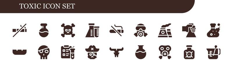 toxic icon set