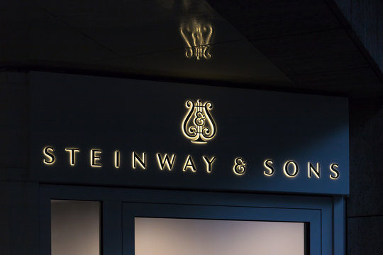 cologne, North Rhine-Westphalia/germany - 25 09 19: steinway & sons store sign in cologne germany