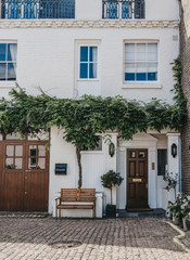 Fotobehang Londen Facade of a typical mews house in London, UK.
