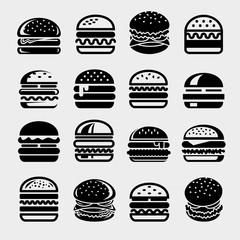 Hamburger set. Collection hamburger icons. Vector
