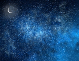 Night sky with stars as background