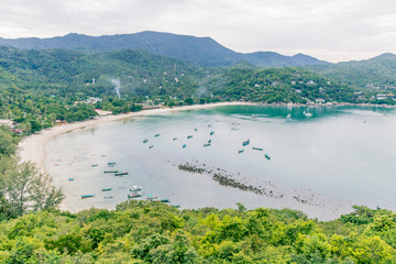 Panorama view Thong Nai Pan Beach, Koh Phangan Surat Thani Thailand.