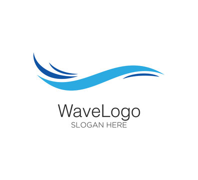 wave vector logo concept design template