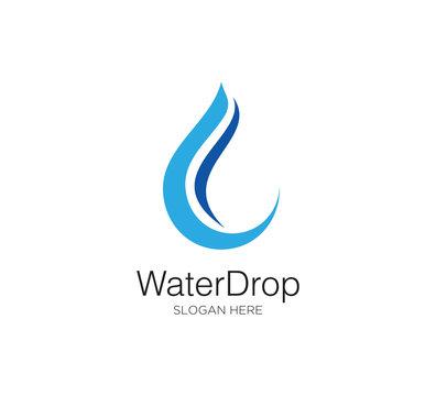 water drop vector logo concept design template