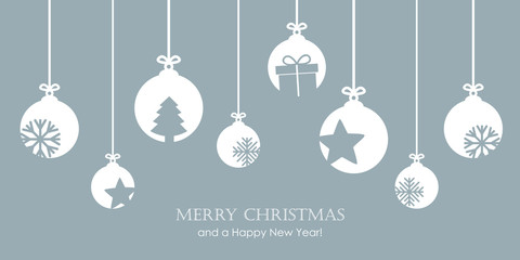 christmas bauble decoration with snowflakes stars and gift vector illustration EPS10 Fototapete