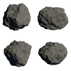 asteroide piedra cometa roca