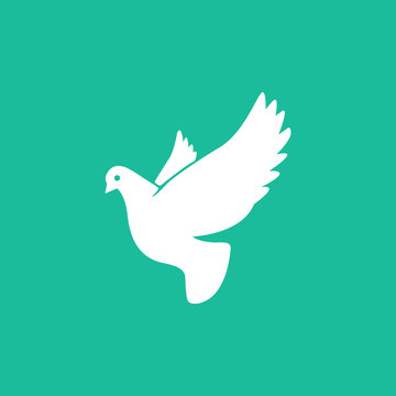 Pigeon symbol in simple style. Dove icon. Vector EPS 10