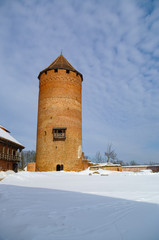 Turaida Castle is a recently reconstructed medieval castle in Turaida, in the Vidzeme region of Latvia, on the opposite bank of the Gauja River from Sigulda.