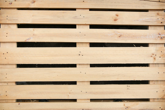 wooden pallet background, view from above