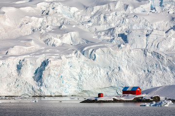 Poster Antarctica Almirante Brown Research Station - Paradise Bay - Antarctica