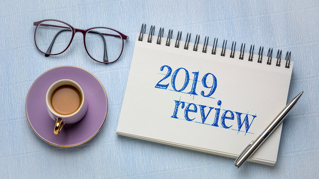 2019 review text in notebook