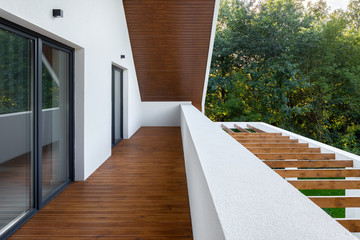House with wooden terrace