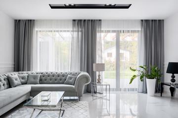 Romantic gray living room