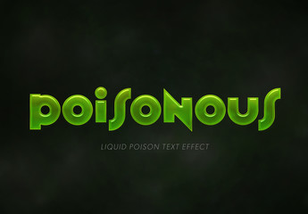 Green Toxic Text Effect