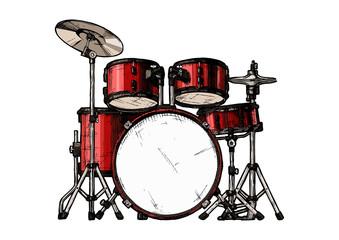 Wall Mural - illustration of drum kit