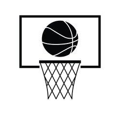 basketball -  black vector icon