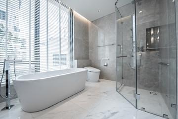 Beautiful Large Bathroom.White toilet bowl