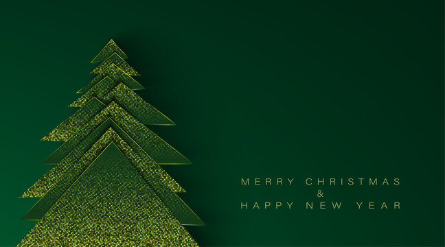Merry Christmas and Happy New Year horizontal banner