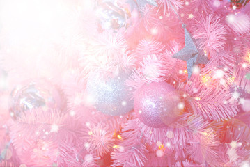 Christmas Background with bokeh light