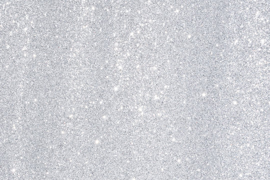silver bokeh light background