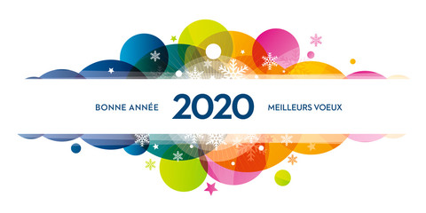 2020-carte-de-voeux-COLORS-flocons Fototapete