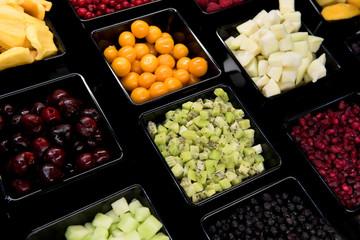 Obst, Beeren, tiefgefroren