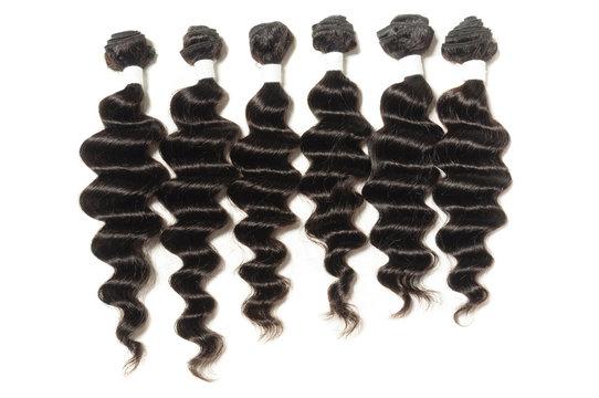 loose wave black human hair weave extensions bundles
