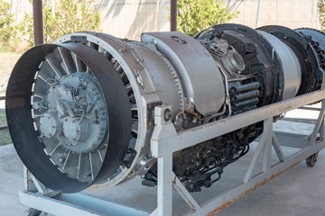 old jet engine details and photo