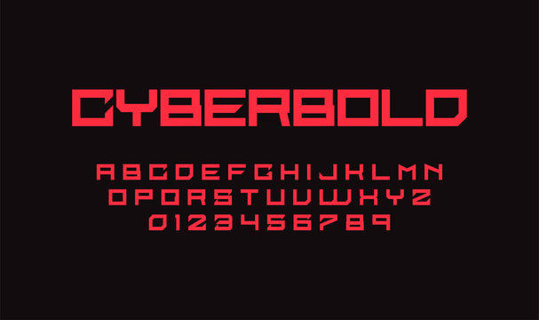 Stylish retro alphabet font in sci fi style. Typography modern space  font set for logo, poster, games, interface and movie. Vector Illustration. EPS 10