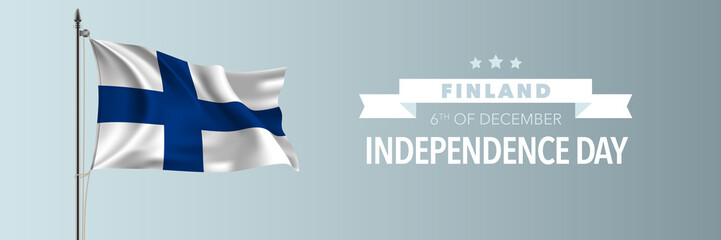 Finland happy independence day greeting card, banner vector illustration Fotoväggar