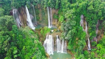 Wall Mural - Thi Lo Su (Tee Lor Su) in Tak province. Thi Lo Su waterfall the largest waterfall in Thailand.