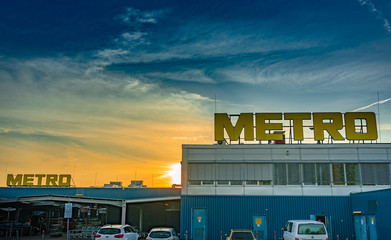 Nuremberg, Germany - October, 2019: METRO Cash & Carry Store. Metro Group is a German global retail and wholesale group based in Düsseldorf