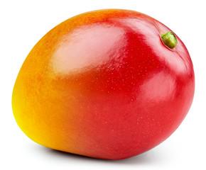 Mango isolated on white background. Ripe mango Clipping Path. Quality macro photo