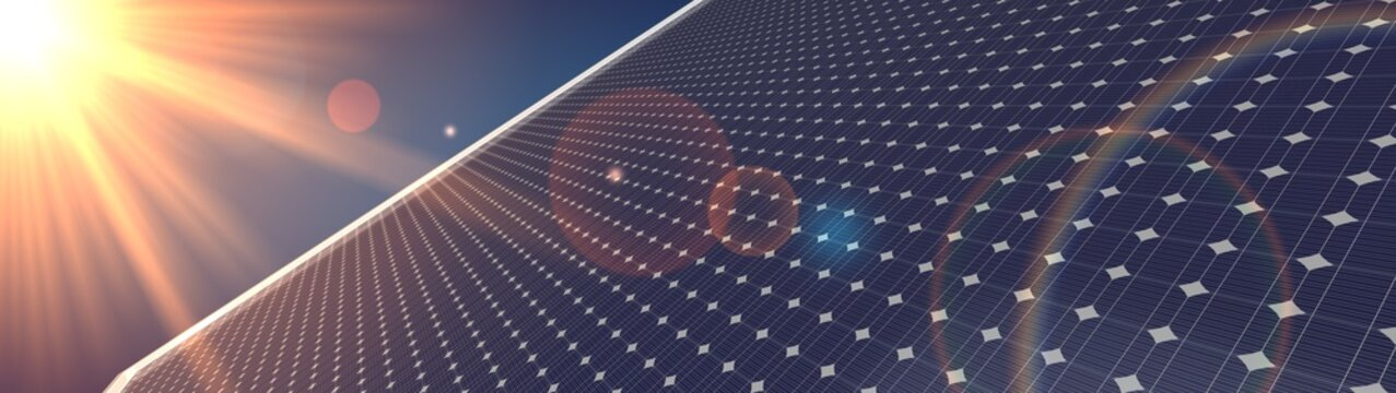 photovoltaic renewable background solar panel 3d