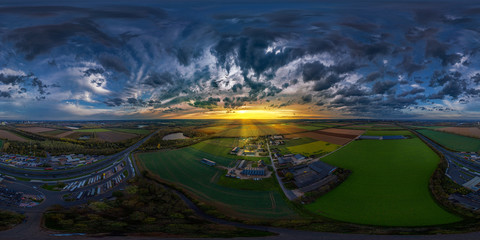 Foto op Canvas Nachtblauw what an awsome 360° full vr sky