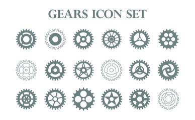 set of gears icon.set of elements for design and scrapbook in vector-stock icon
