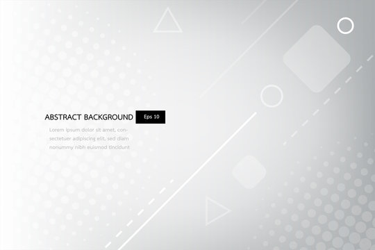 white and grey abstract gradient geometric shapes backround, shine and smooth circle with futurisctic and modern template.