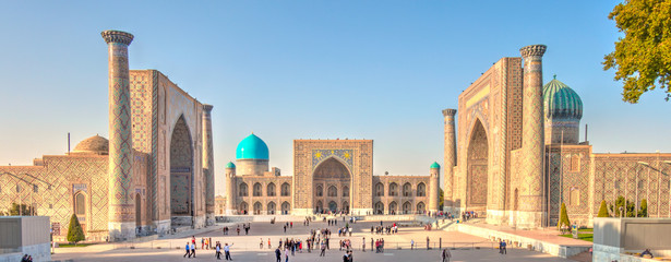Photo sur Toile Con. Antique Samarkand, Registan
