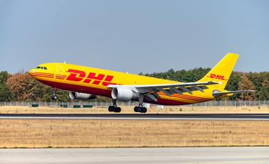 DHL aircraft lands in Frankfurt